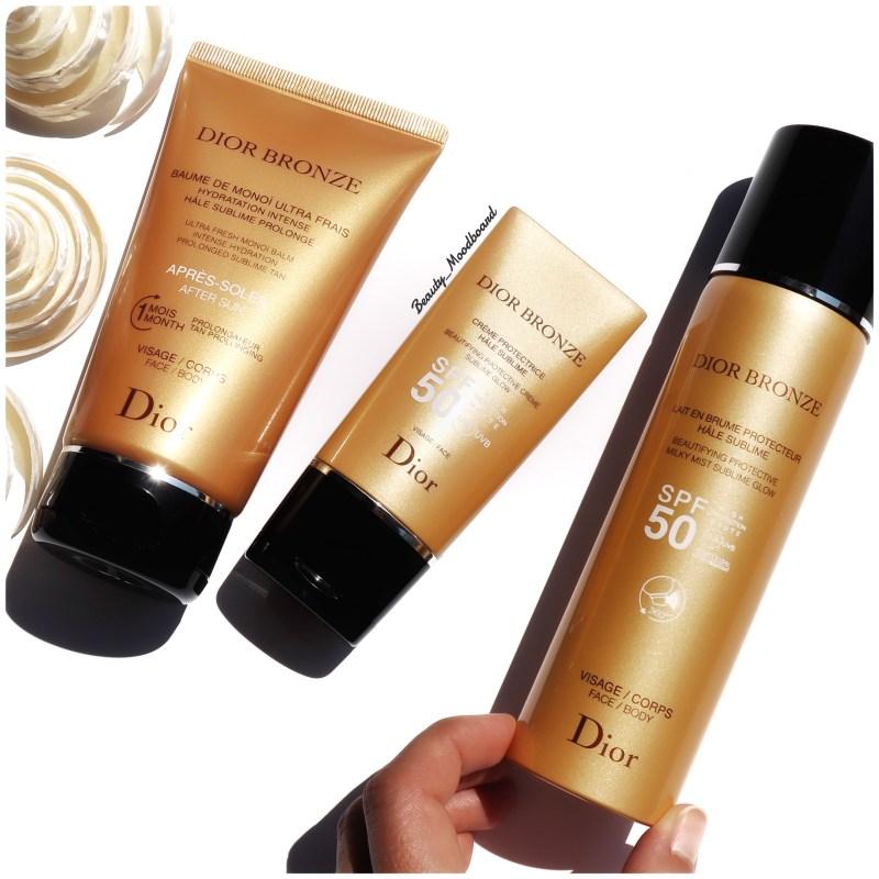 Dior Bronze Soins solaires Baume de monoï Crème protectrice & Lait en brume SPF50Lait