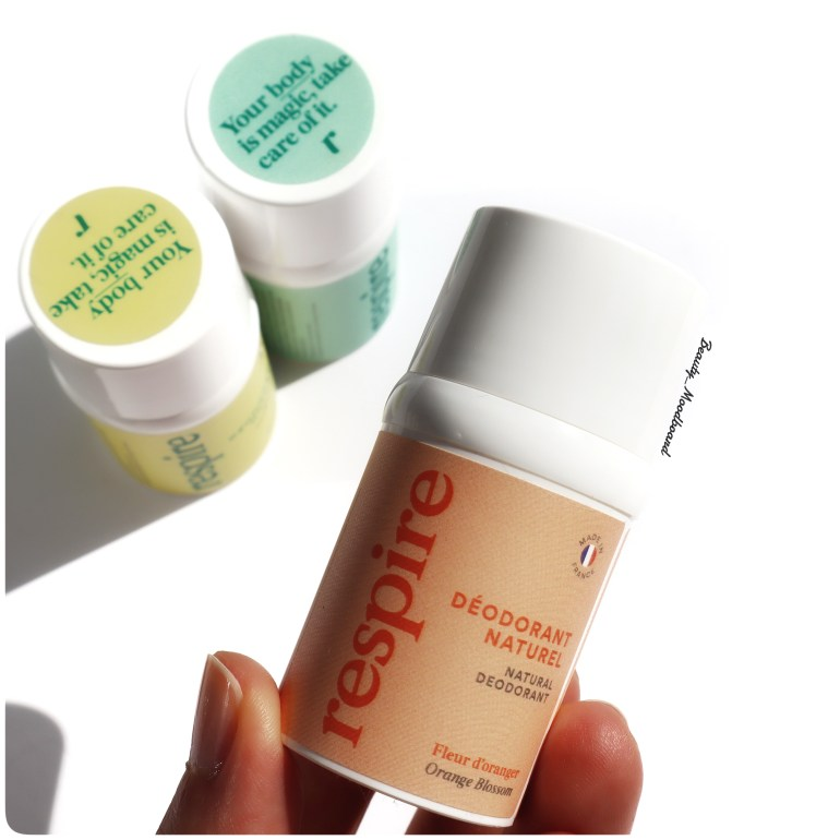Mini format déodorant naturel Respire Fleur d'oranger en collaboration avec Sephora