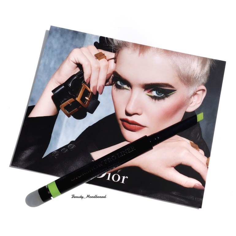 Dior Power Look Fall 2019 Eye liner Diorshow couleur vert citron