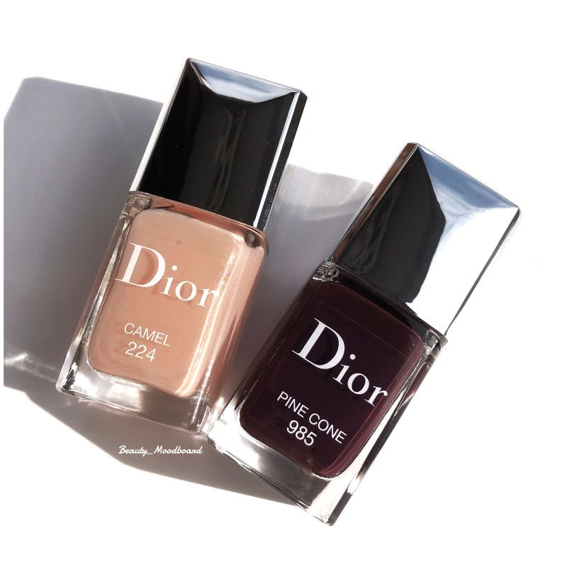 Dior Vernis Blue Star Collection Camel 224 et Pine Cone 985