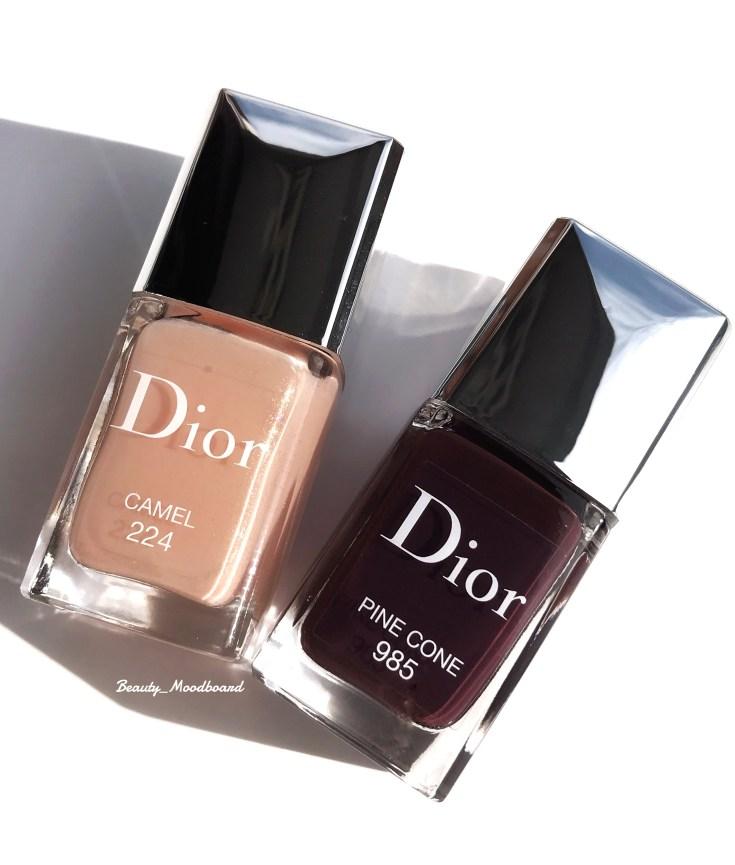 Dior Vernis Blue Star Collection Camel 224 et Pine Cone 985
