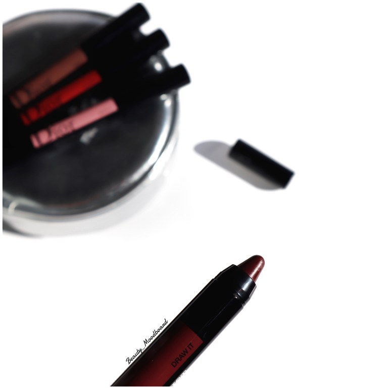 Rouge à lèvres couleur intense bordeaux Draw It 784 Dior Power Look Fall 2019