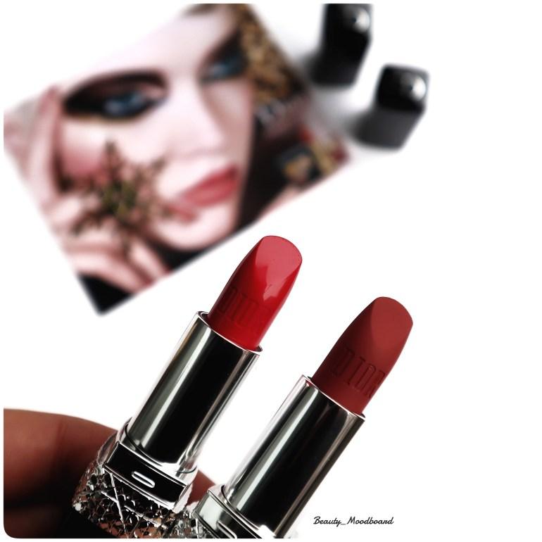Deux teintes des Rouge Dior Bijou Noël 2019 Feel Good 520 & et Classic Matte 772