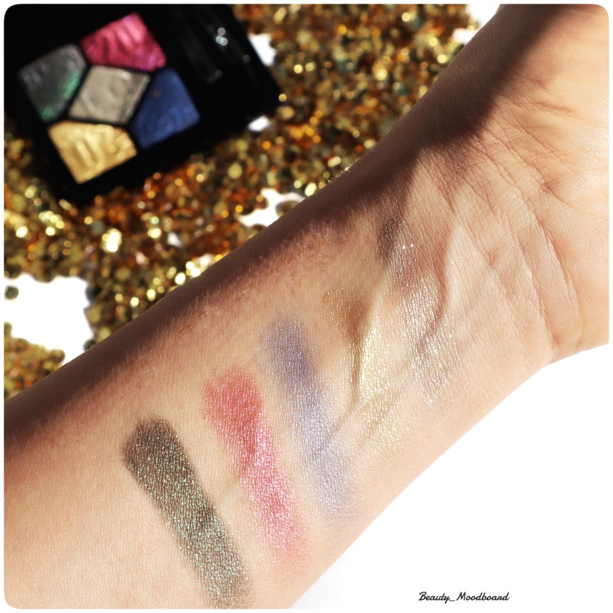 Swatch des 5 teintes de fards Dior Party In Colours 007