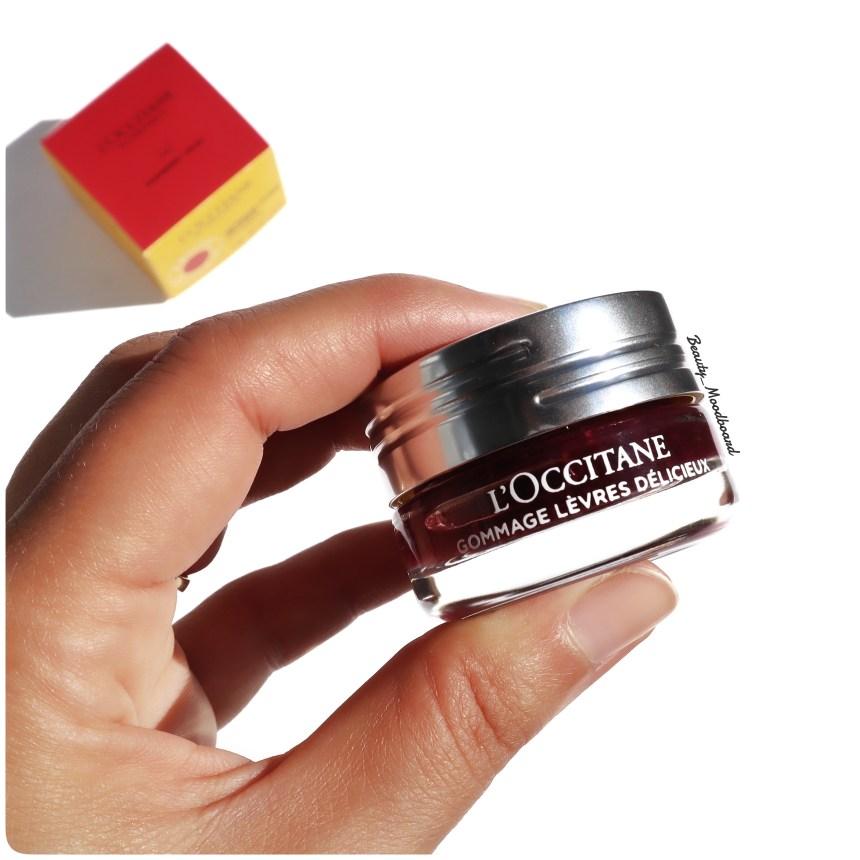 Gommage Lèvres Délicieux mon avis sur le maquillage L'Occitane en Provence