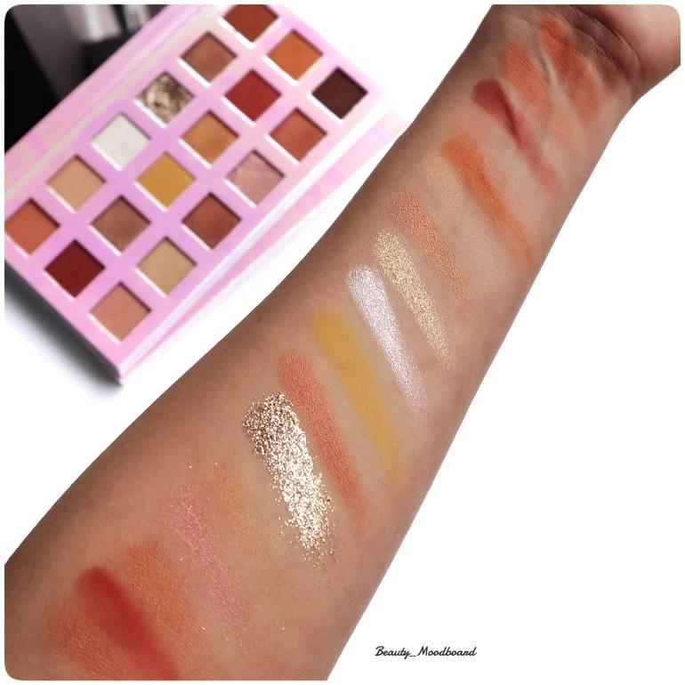 Avis maquillage Sheglam swatch palette Artistry