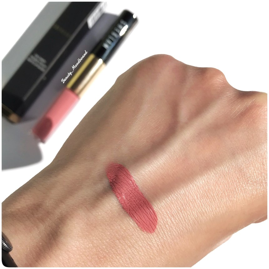 Swatch Eye Candy Double Touch Matte Lip Gloss teinte 207 Sakura Pink rose nude