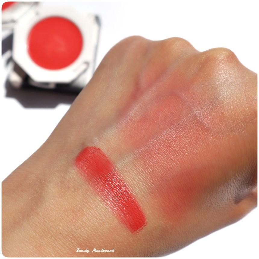 Swatch blush crème Daiquiri Dip 06 nouveauté maquillage Rihanna