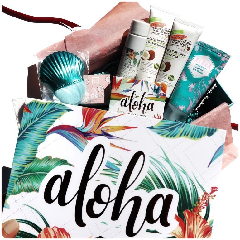 Contenu de la box beauté Aloha pour l'été 2020