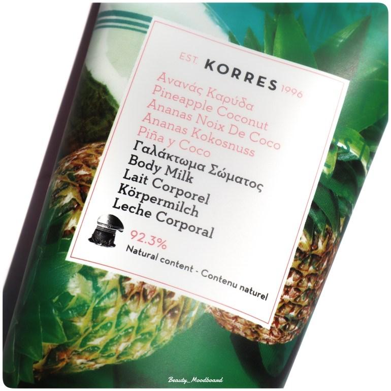 Design Duo Korres Bain Ananas Coco Gel douche et Lait Corps