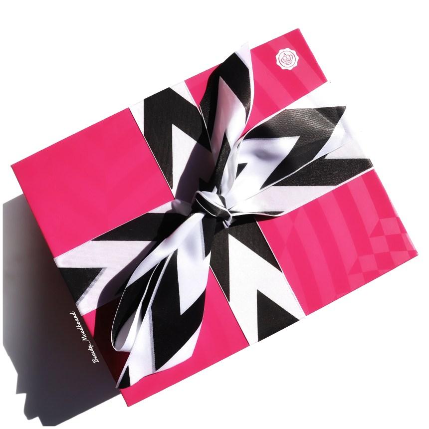 Design paquet cadeau Glossybox Anniversaire Août 2020