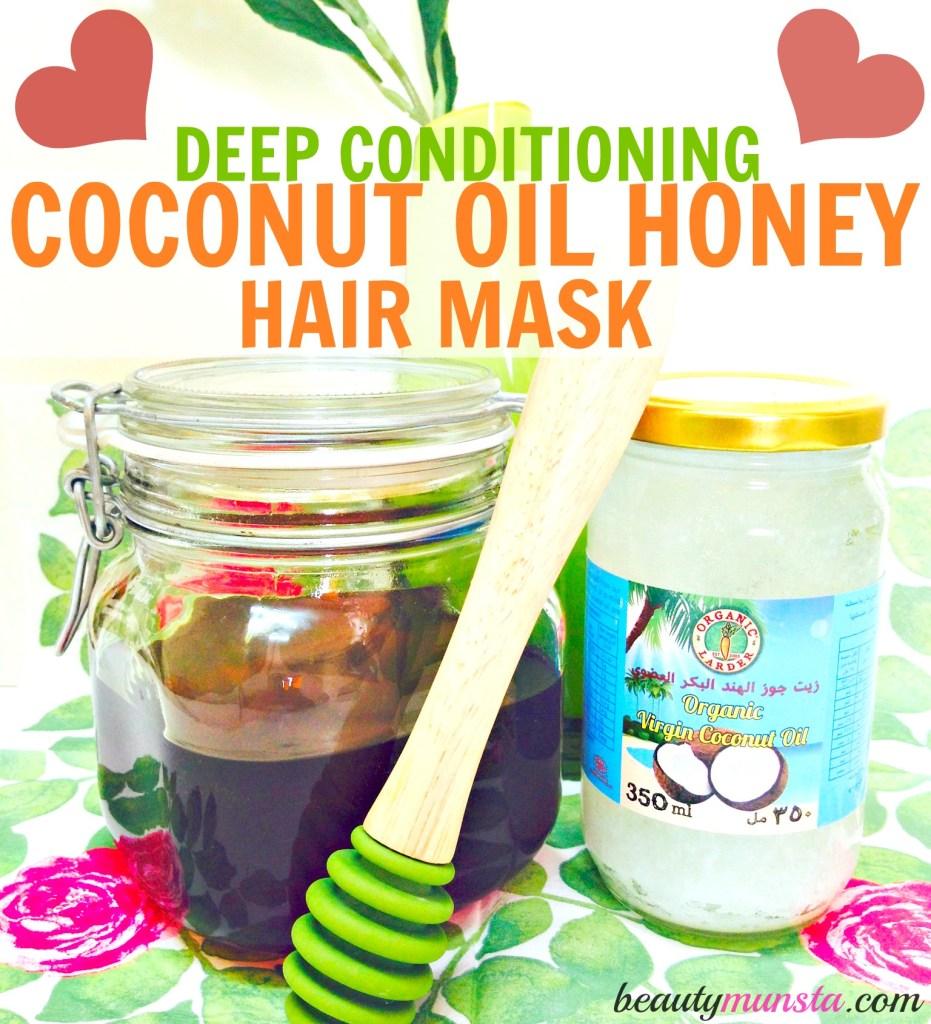 Two powerful ingredients come together in this coconut oil honey hair mask to bring back life and lustre to dry or dull hair!