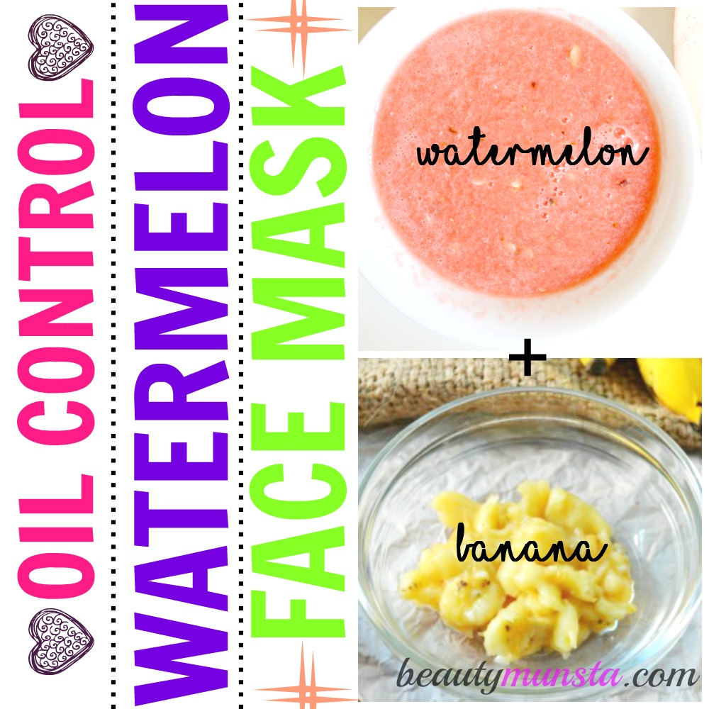 This watermelon face mask contains banana which is rich in penetrative moisture for excess oil-free skin.