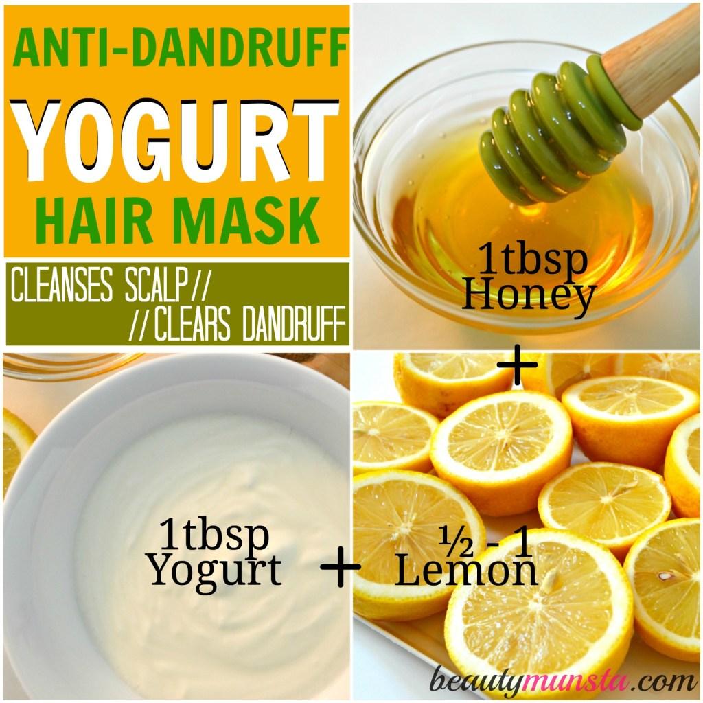 yogurt hair mask anti-dandruff