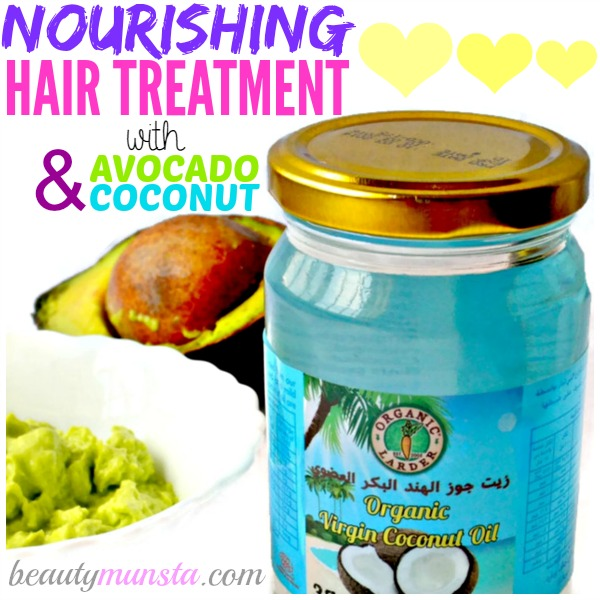 Do you want a tropical island hair mask to nourish & repair your hair?! Then go for this coconut oil hair mask with avocado!