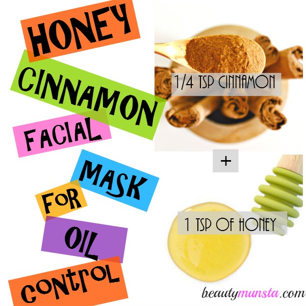 Honey & cinnamon mixed together form a potent anti-acne homemade facial mask for acne that will also regulate oily acneic skin