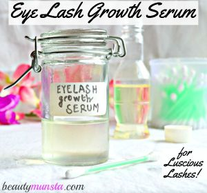DIY Natural Eyelash Growth Serum for Thicker & Longer Lashes
