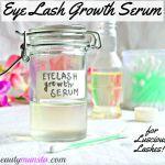 DIY Natural Eyelash Growth Serum for Thicker & Longer Lashes