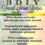 3 Homemade Facial Serum Recipes (for Oily Skin/Acne, Aging & Combination Skin!)
