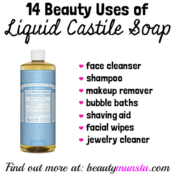 beauty benefits of liquid castile soap