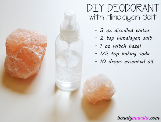 Diy Himalayan Salt Deodorant Roll On Amp Spray Recipes