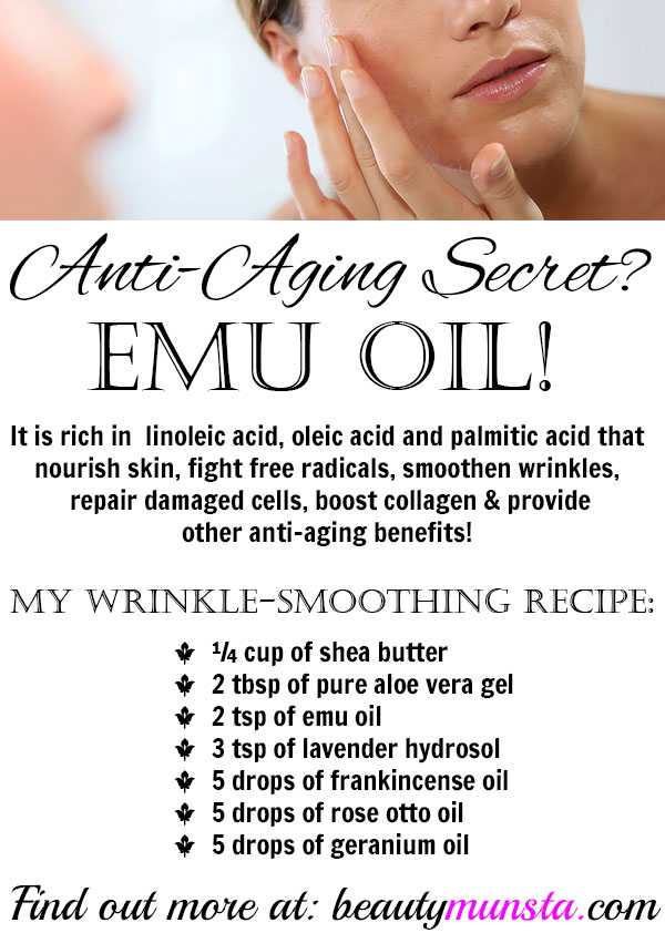 Using Emu Oil For Wrinkles Anti Aging Recipe Benefits