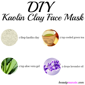 DIY Kaolin Clay Face Mask Recipe