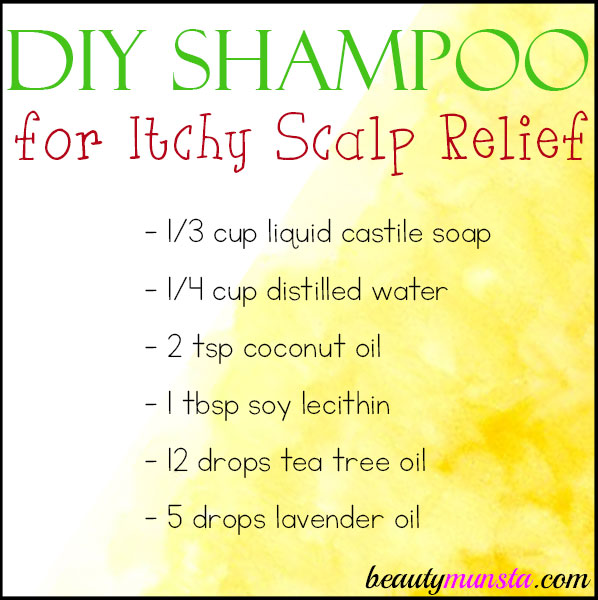 Stop that itch now! Make a DIY itchy scalp shampoo with just a few ingredients.