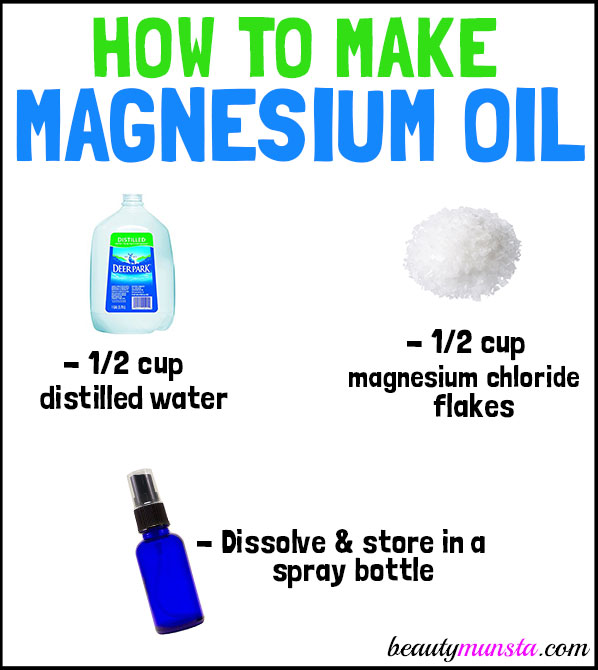 An easy and effective recipe on how to make magnesium oil!