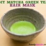 DIY Matcha Green Tea Hair Mask