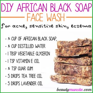 DIY African Black Soap Face Wash