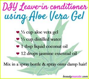 DIY Aloe Vera Leave-In Conditioner