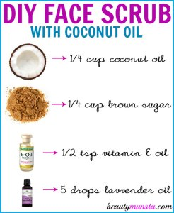 DIY Coconut Oil Face Scrub for Gentle Exfoliation & Smooth Skin