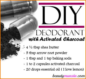 DIY Deodorant with Activated Charcoal