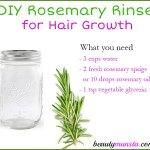 DIY Rosemary Hair Rinse for Hair Growth, Gray Hair & Itchy Scalp