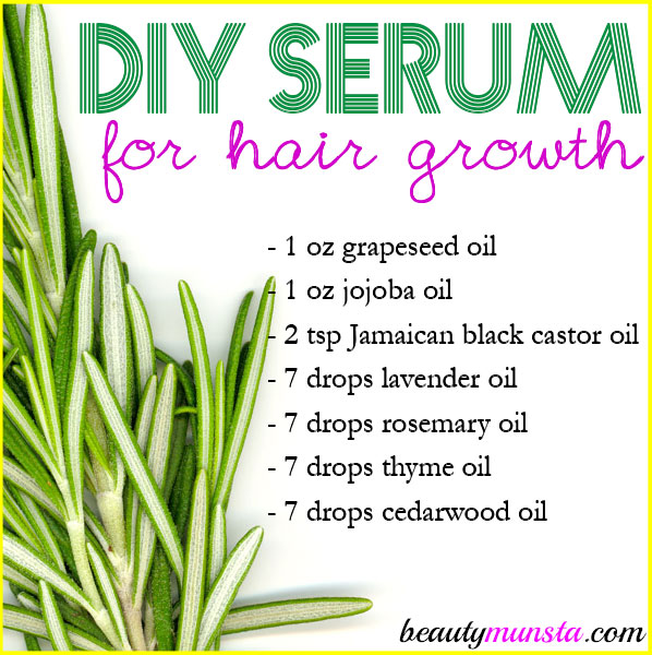 Healthy long hair is just a serum away! Make this homemade serum for hair growth and thickness!