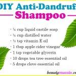 DIY Anti-Dandruff Shampoo with Tea Tree Oil