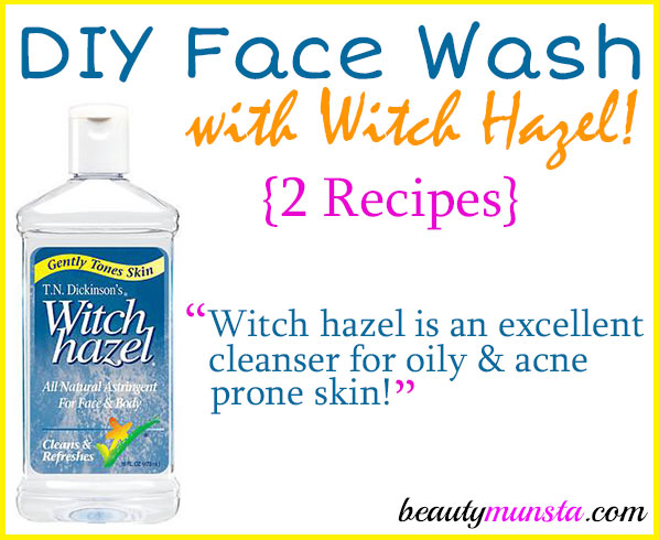 Have you ever thought of making a DIY face wash with witch hazel as the main ingredient? You might want to try it!
