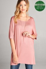 Short Sleeve Bamboo Tunic