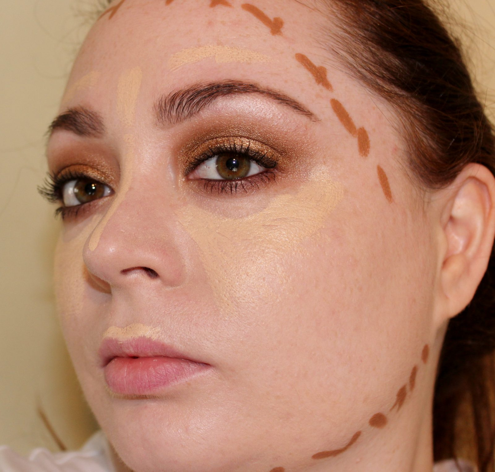Smashbox Say Use The Product In An X Formation And I Think It Does Work  Best Because You Tend To Use Less Product Than Just Drawing Lines Around  Your Face