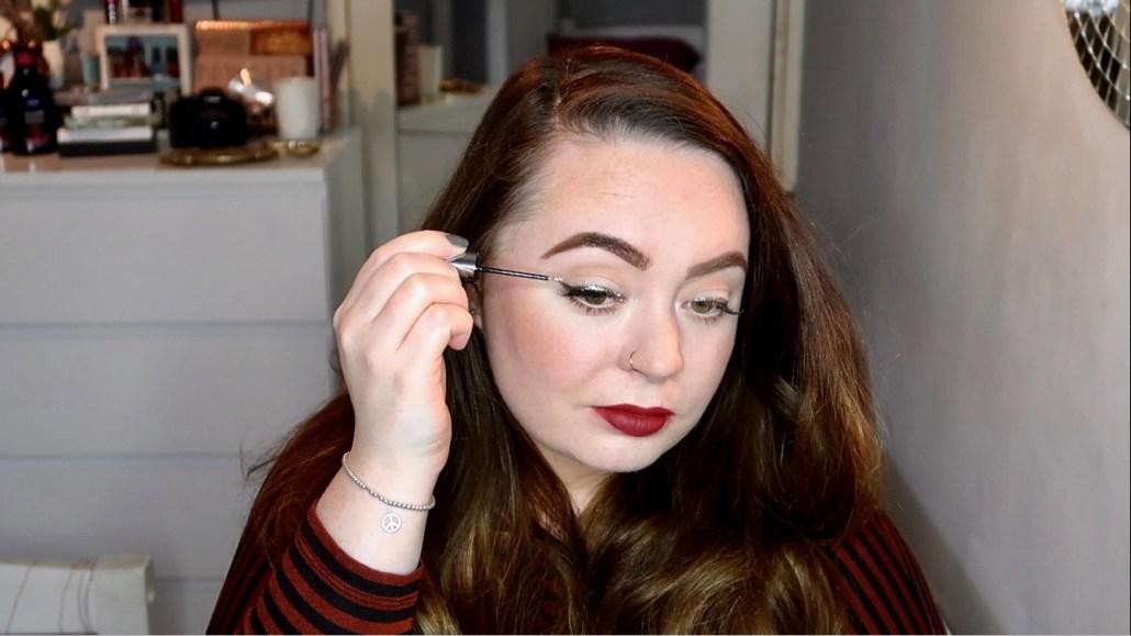 glitter winged liner tutorial
