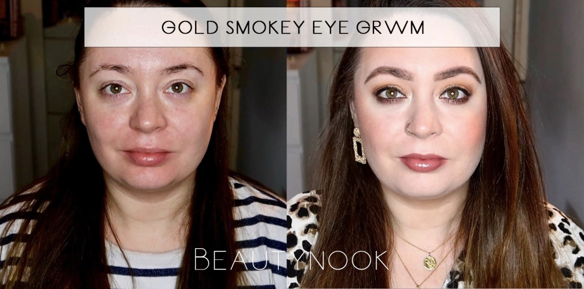 Gold Smokey Eye Makeup Tutorial GRWM