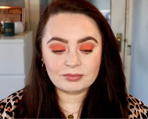 easy orange eyeshadow makeup tutorial