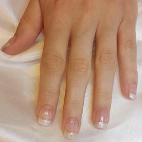 Nagel versteviging glitter french manicure