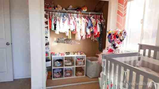 Elegant-Ombre-Herringbone-Nursery closet