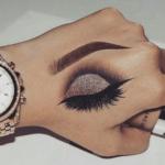 Eye Makeup On Hand