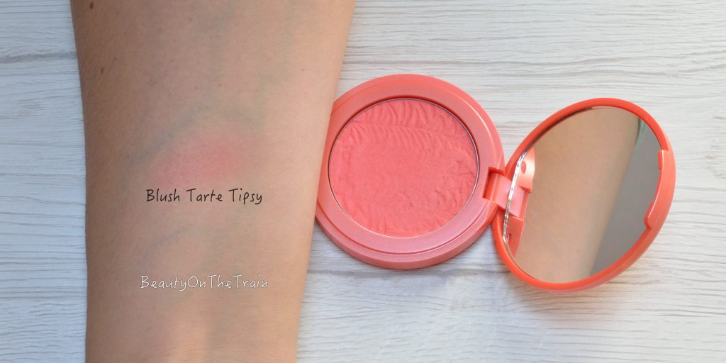 swatch blush tarte tipsy