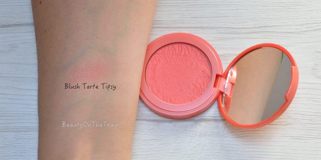 swatch blush tarte tipsy