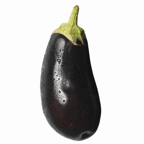 canva close up of an italian eggplant