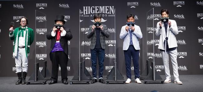 「ヒゲ、自由に楽しんでる?」自身の髭スタイルを自由に楽しむ著名人を表彰する「HIGEMEN AWARDS 2021」で速水もこみちさん、小澤征悦さんら4組が受賞